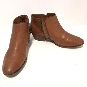 Sam Edelman short brown leather low profile bootie